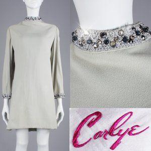 XL Vintage 60s Mod Mini Dress MCM Space Age